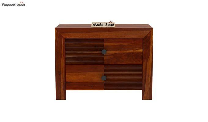 Jackson Bedside Table (Honey Finish)-3