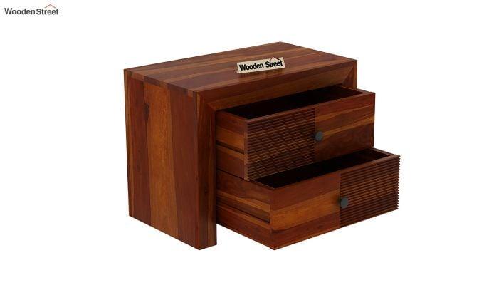 Jackson Bedside Table (Honey Finish)-4