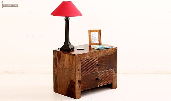 Jackson Bedside Table (Teak Finish)-1
