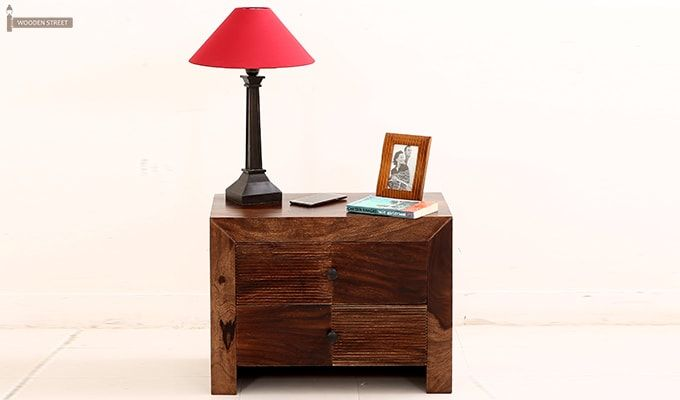 Jackson Bedside Table (Teak Finish)-2