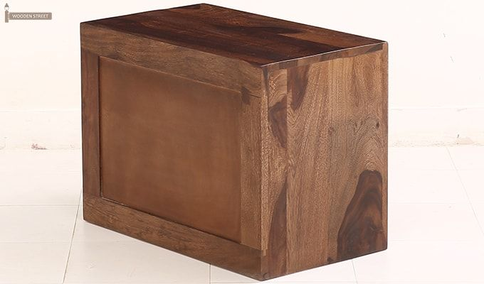 Jackson Bedside Table (Teak Finish)-7