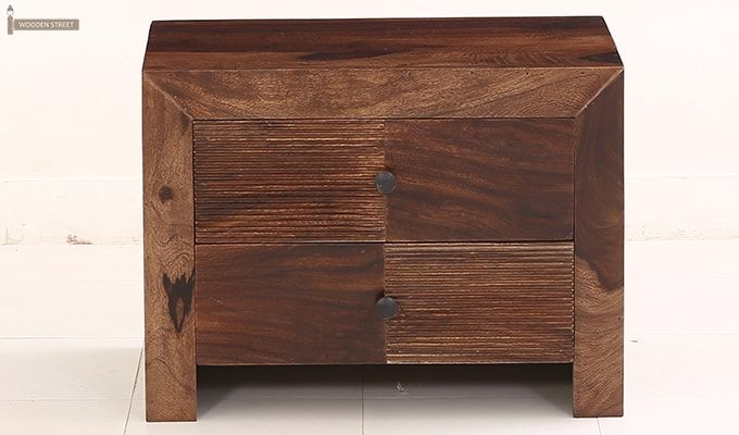 Jackson Bedside Table (Teak Finish)-8