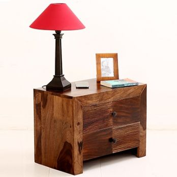 Bedside Table in Teak Finish
