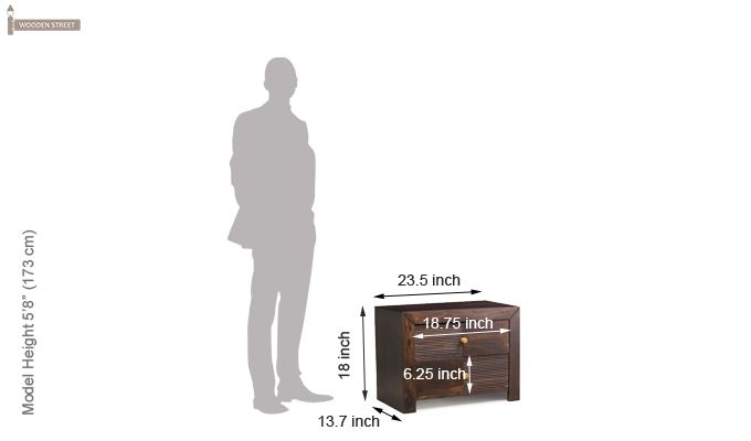 Jackson Bedside Table (Walnut Finish)-8