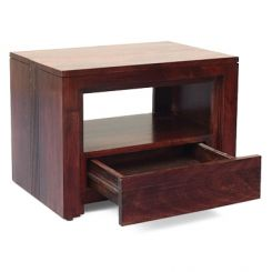 Jennifer Bedside Table (Teak Finish)