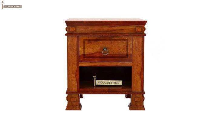 Kingsley Bedside Table (Honey Finish)-4