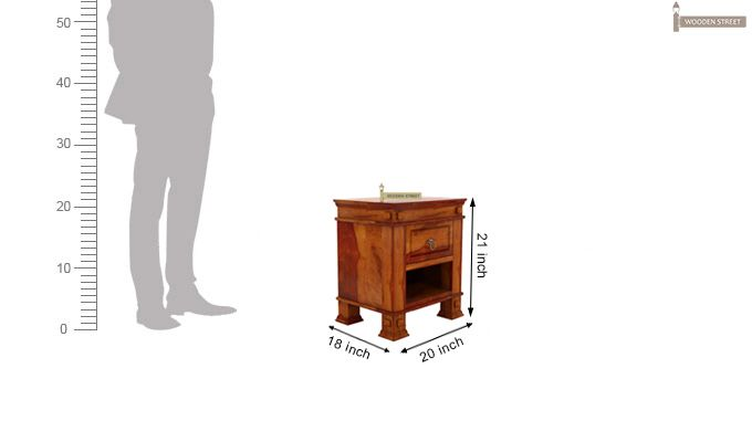 Kingsley Bedside Table (Honey Finish)-6