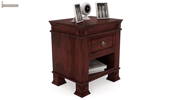 Kingsley Bedside Table (Mahogany Finish)-1