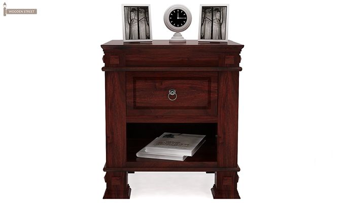 Kingsley Bedside Table (Mahogany Finish)-2