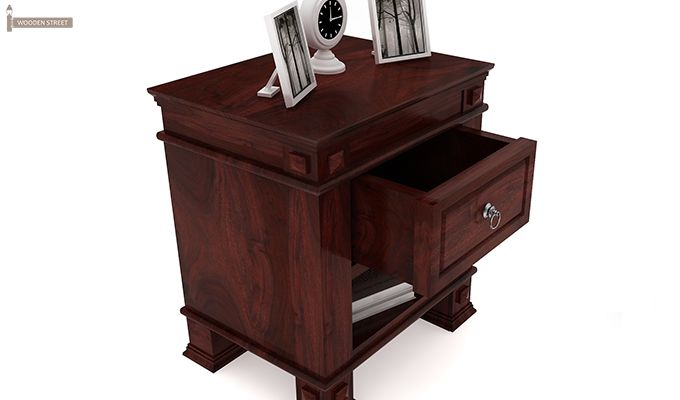 Kingsley Bedside Table (Mahogany Finish)-3