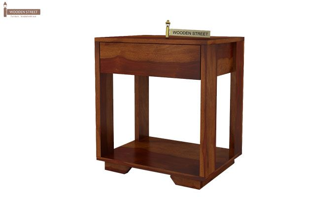 Kristin Bedside Table (Honey Finish)-4