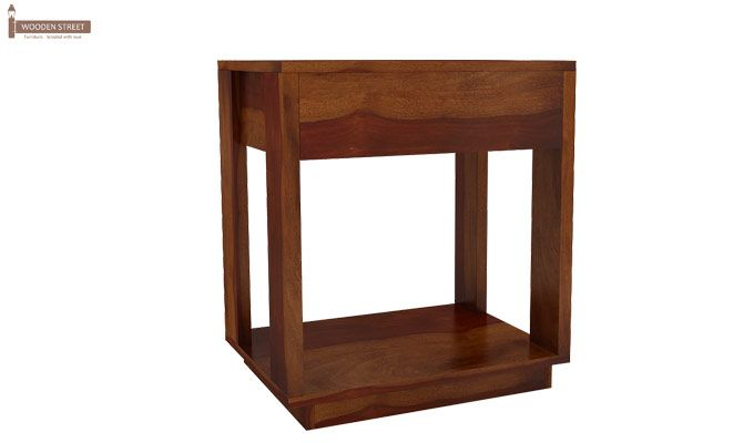 Kristin Bedside Table (Honey Finish)-7