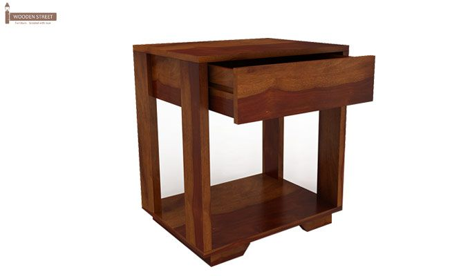 Kristin Bedside Table (Honey Finish)-8