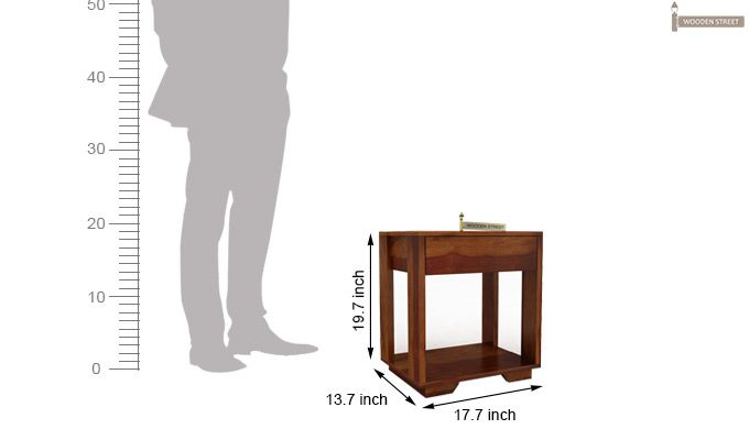 Kristin Bedside Table (Honey Finish)-11