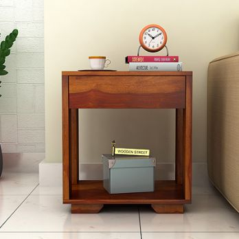 buy solid wood bedside table india