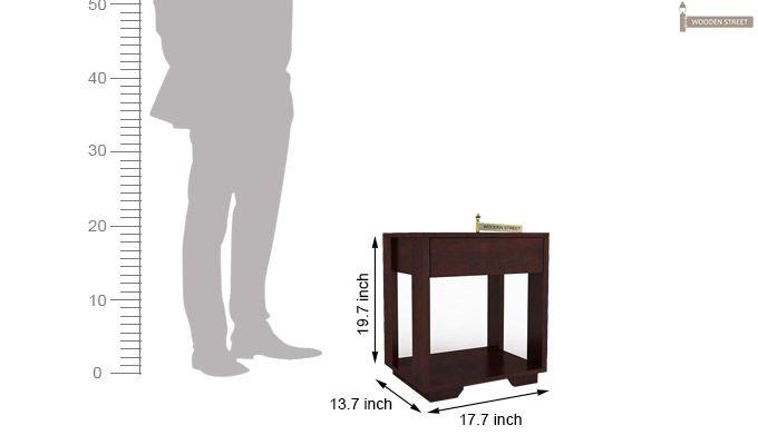 Kristin Bedside Table (Mahogany Finish)-6