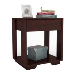 Kristin Bedside Table (Mahogany Finish)