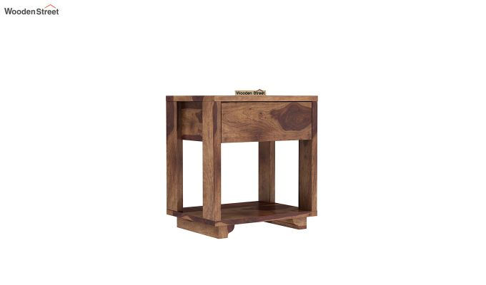 Kristin Bedside Table (Teak Finish)-2