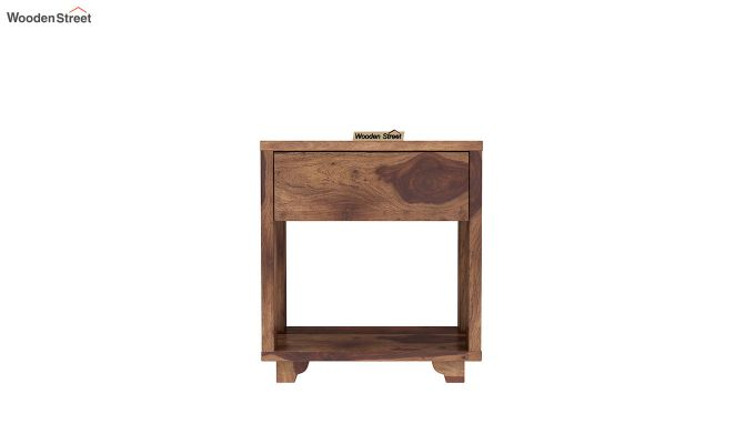 Kristin Bedside Table (Teak Finish)-3
