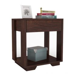 Kristin Bedside Table (Walnut Finish)