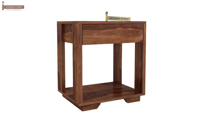 Kristin Bedside Table (Teak Finish)-3