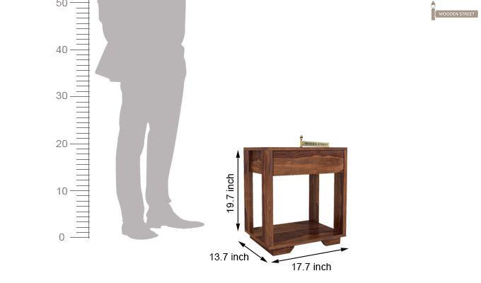 Kristin Bedside Table (Teak Finish)-6