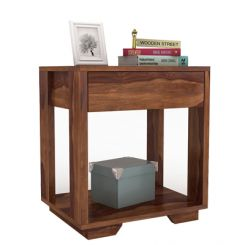 Kristin Bedside Table (Teak Finish)