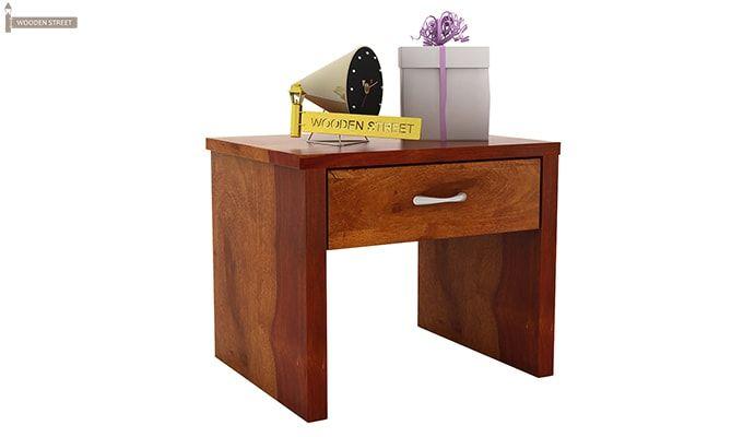 Libron Bedside Table (Honey Finish)-2