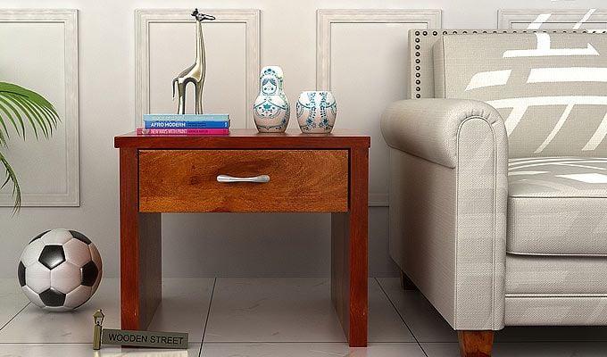 Libron Bedside Table (Honey Finish)-1
