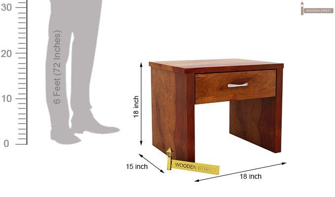 Libron Bedside Table (Honey Finish)-7