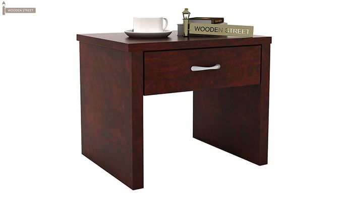 Libron Bedside Table (Mahogany Finish)-1