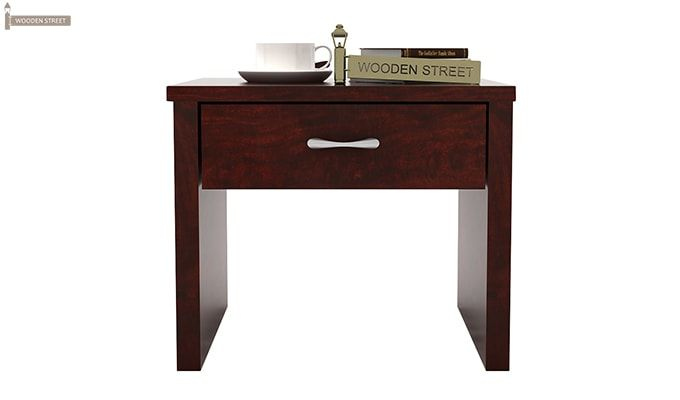 Libron Bedside Table (Mahogany Finish)-2