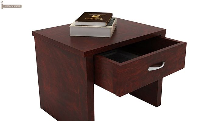 Libron Bedside Table (Mahogany Finish)-4