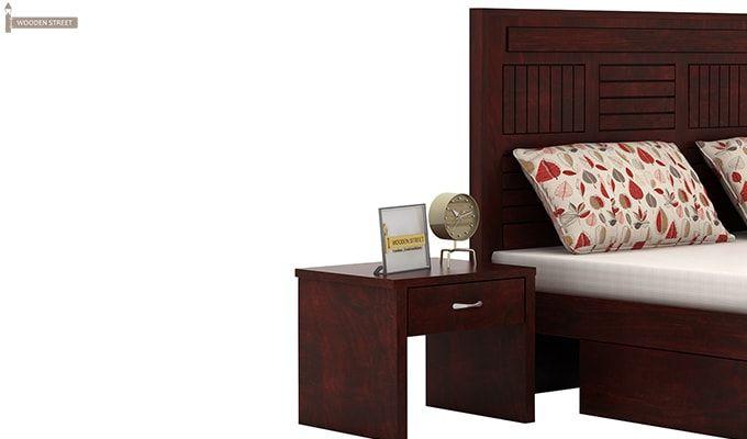 Libron Bedside Table (Mahogany Finish)-5