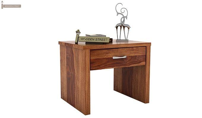 Libron Bedside Table (Teak Finish)-1