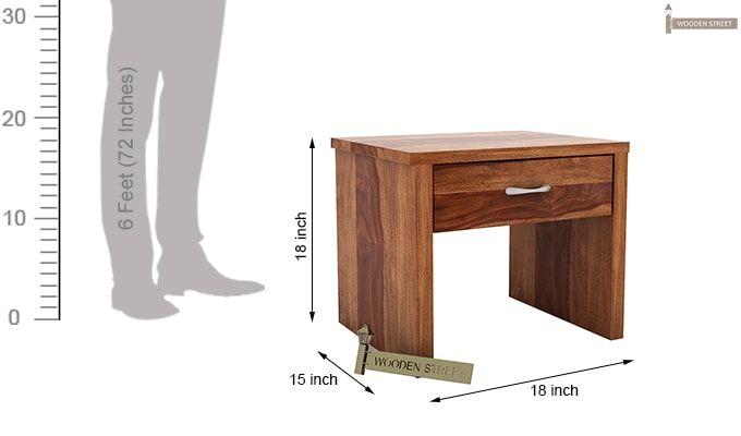 Libron Bedside Table (Teak Finish)-6
