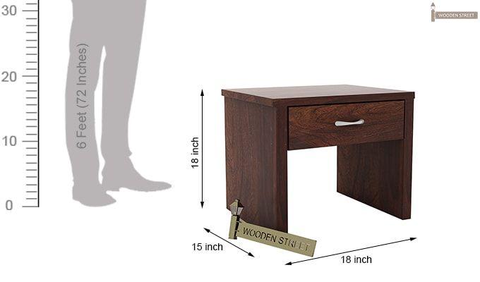 Libron Bedside Table (Walnut Finish)-6