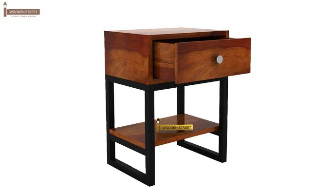 Lomror Bedside Table (Honey Finish)-5
