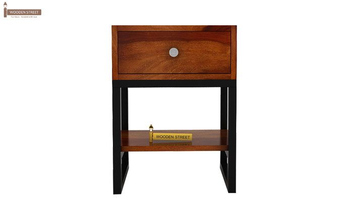 Lomror Bedside Table (Honey Finish)-7