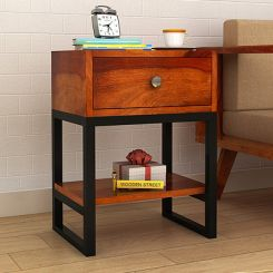 Lomror Bedside Table (Honey Finish)