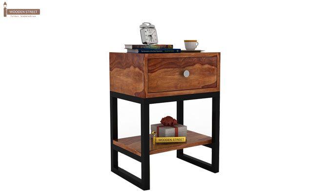 Lomror Bedside Table (Teak Finish)-1