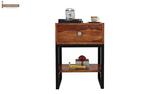 Lomror Bedside Table (Teak Finish)-2
