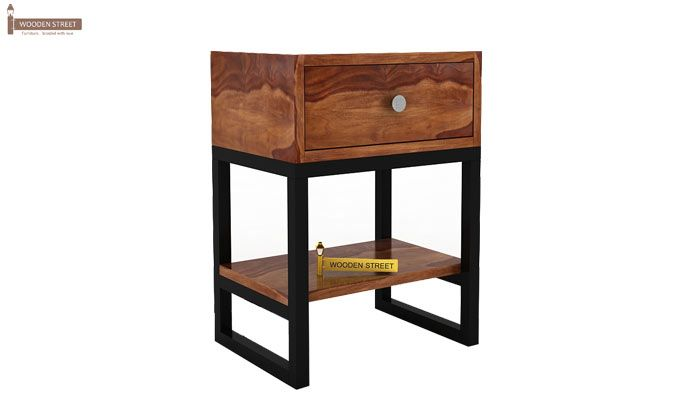 Lomror Bedside Table (Teak Finish)-3