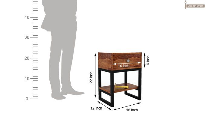 Lomror Bedside Table (Teak Finish)-4
