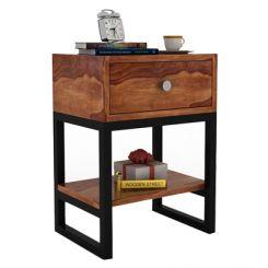 Lomror Bedside Table (Teak Finish)