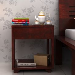 Lynet Bedside Table (Mahogany Finish)