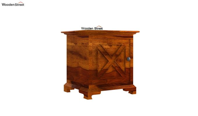 Martin Bedside Table (Honey Finish)-2