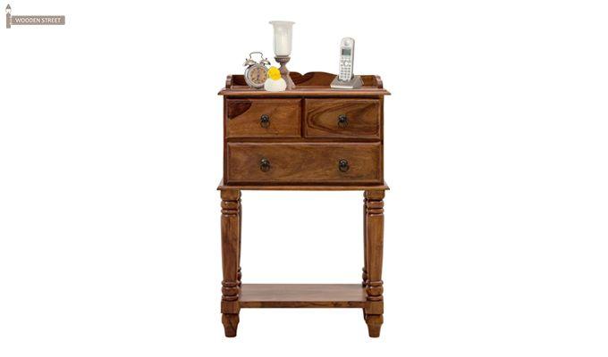 Mc-Clane Bedside Table (Teak Finish)-1