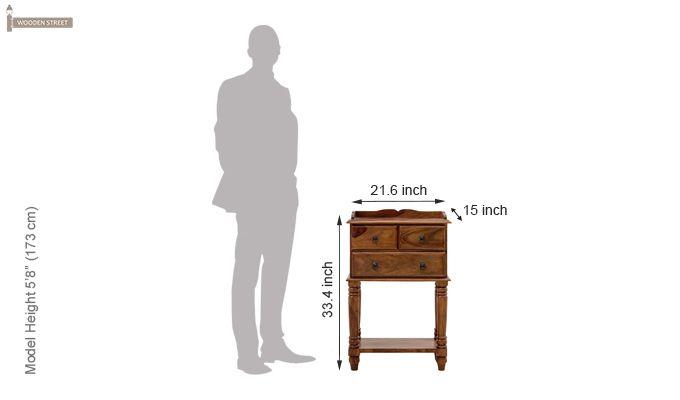 Mc-Clane Bedside Table (Teak Finish)-2