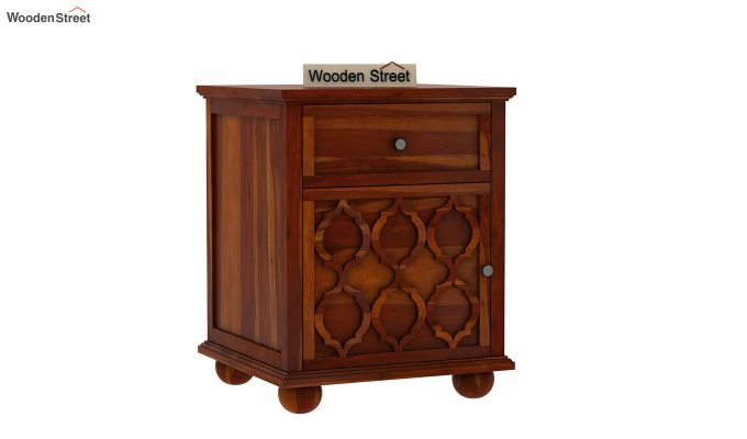 Montana Bedside Table (Honey Finish)-1